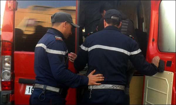 إصابة 17 شخصا في حادث انقلاب حافلة لنقل الركاب بإقليم الناظور