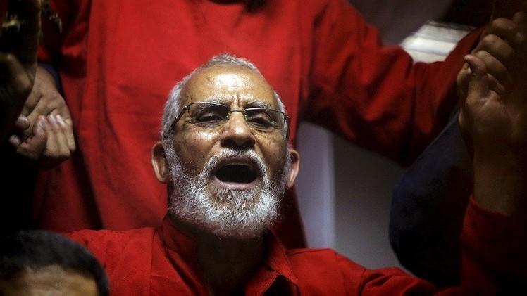 السجن المؤبد لبديع مرشد الإخوان بمصر و35 آخرين في قضية عنف