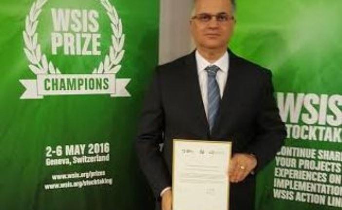 """""""بريد المغرب"""" ضمن المتوجين بجائزة القمة العالمية لمجتمع المعلومات بجنيف"""