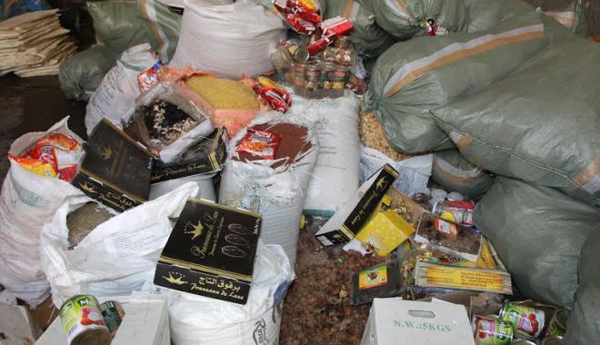 حجز الأطنان من الأغذية الفاسدة بنقط الحدود بمنطقة ني أنصار
