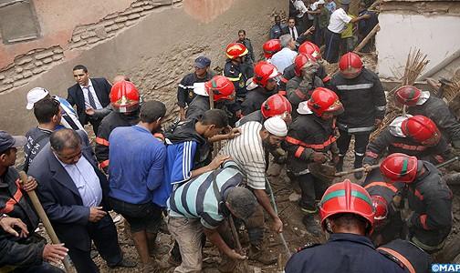 وفاة 3 أشخاص من أسرة واحدة بعد انهيار حائط منزل بضواحي مراكش
