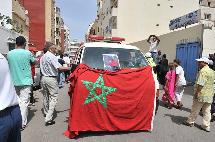 تشييع جثمان البطلة المغربية الراحلة سهام العرايشي بمقبرة الرحمة بالبيضاء