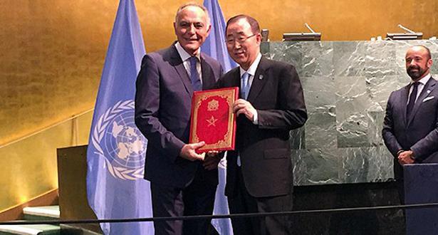 إيداع وثائق المصادقة على اتفاق باريس: المغرب يجدد التأكيد على التزامه المتخذ على أعلى مستوى بالدولة