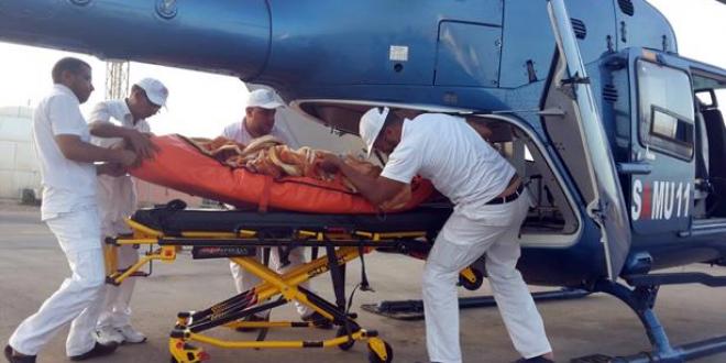 نقل رضيعة للعلاج بواسطة مروحية طبية من العيون إلى المستشفى الجامعي بمراكش