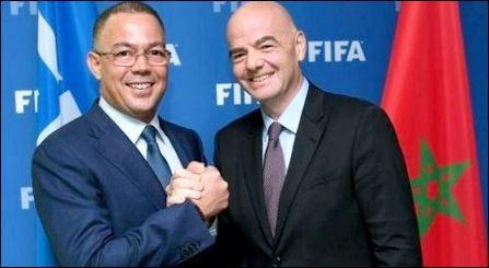 الرئيس الجديد للفيفا في زيارة خاصة للمغرب