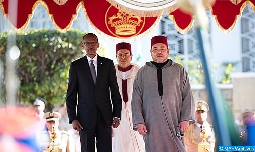 الملك يهنئ بول كاكامي بعد إعادة انتخابه رئيسا لجمهورية رواندا