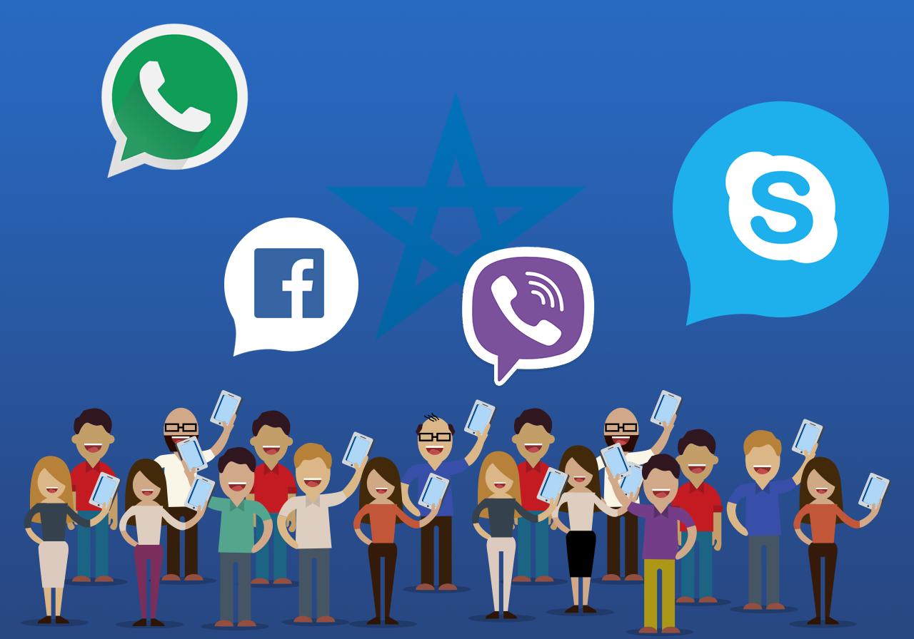 """""""كوب 22"""" يرفع الحظر عن مكالمات فايسبوك وواتساب والسكايب"""