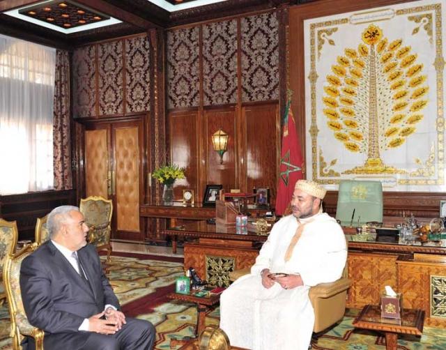 الملك محمد السادس يستقبل بنكيران بقصره بمدينة الدار البيضاء