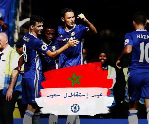 فريق تشيلسي الإنجليزي يهنئ الشعب المغربي بعيد الاستقلال