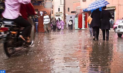 أمطار قوية وزخات معتدلة مرتقبة من اليوم الأحد إلى غاية يوم الثلاثاء المقبل بالعديد من مناطق المملكة