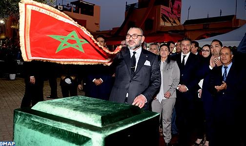 الملك يعطي انطلاقة عدد من المشاريع الرامية إلى إعادة تأهيل المدينة القديمة لمراكش