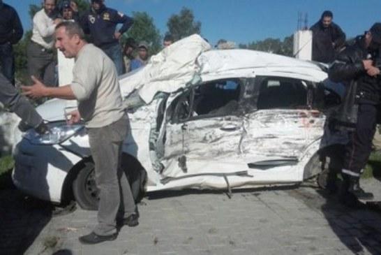 مصرع أربعة أشخاص في حادثة سير مروعة بطنجة