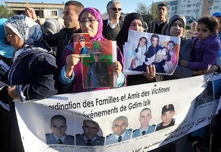 تنسيقية عائلات وأصدقاء ضحايا اكديم ايزيك تقتصر على فريق محدود من المحامين