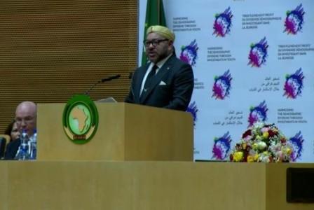 """الملك محمد السادس: """"إفريقيا قارتي وهي أيضا بيتي لقد عدت أخيرا إلى بيتي"""""""
