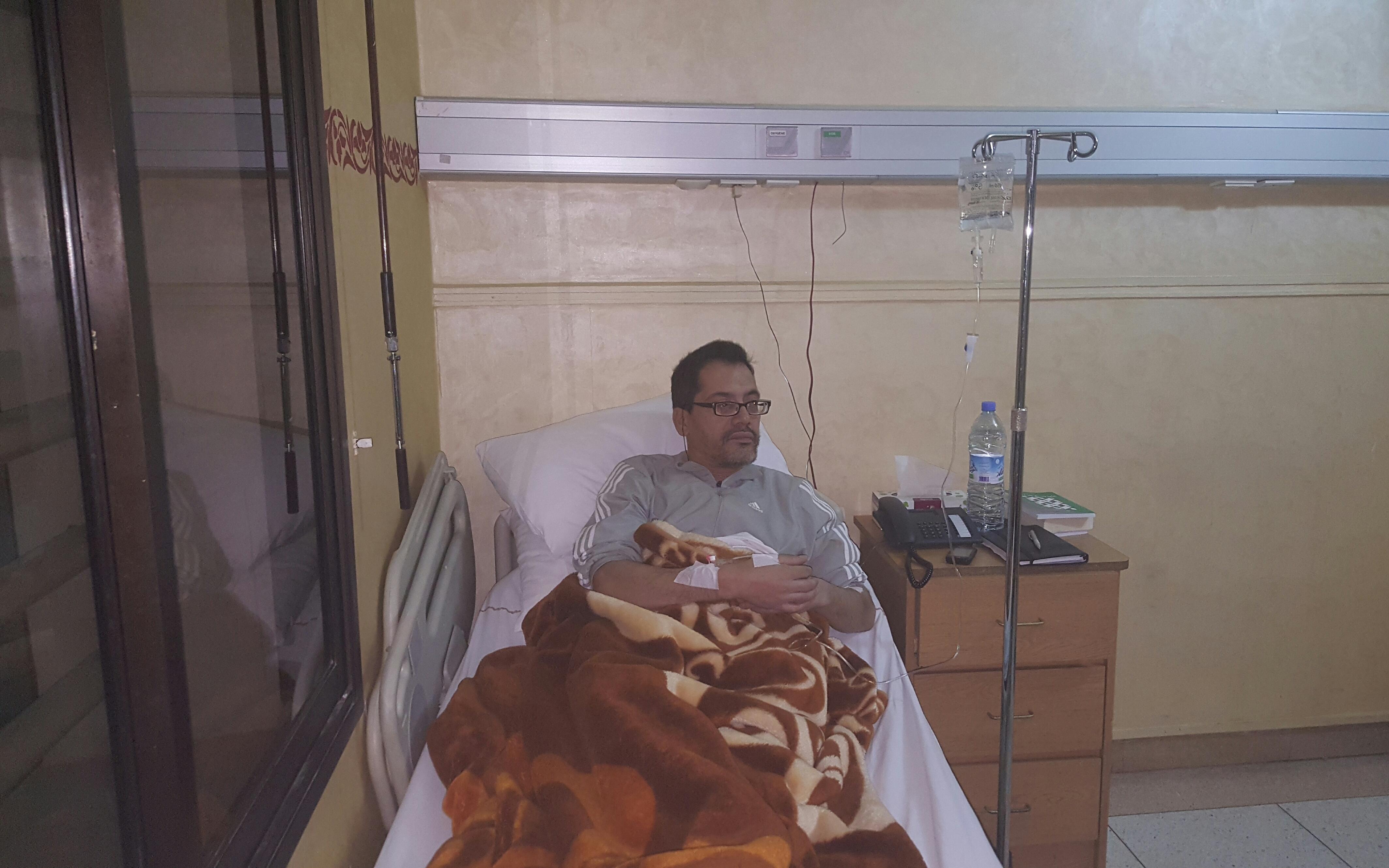 الزميل عبد الله طلال يخضع للعلاج بإحدى المصحات الخاصة بالدار البيضاء
