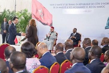 الملك ورئيس كوت ديفوار يترأسان حفل التوقيع على 14 اتفاقية للتعاون بين البلدين