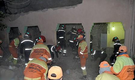 مصرع ثلاثة أشخاص من أسرة واحدة في انهيار منزل بمراكش