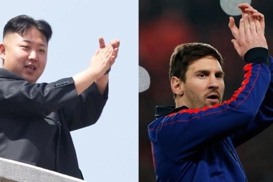 """زعيم كوريا الشمالية كيم جونغ أون """"يتوعد"""" ميسي"""