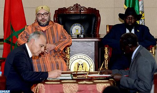 رئيس جمهورية جنوب السودان يشيد بجهود الملك في حل قضية الصحراء المغربية