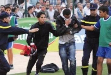 إصابة 14 شخصا في تراشق بين أنصار الوداد وشباب الريف الحسيمي