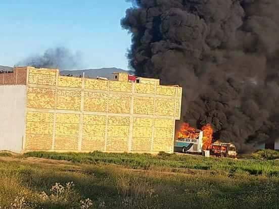 مجموعة أشخاص يضرمون النار في إقامة لرجال الأمن بالحسيمة