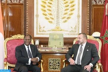 الملك ورئيس كوت ديفوار يجددان التأكيد على رغبتهما في أن تكون إفريقيا أكثر تضامنا ووحدة