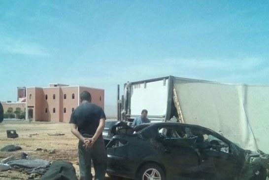 مصرع 3 دركيين ونقل آخرين للمستعجلات بعد حادثة سير خطيرة بكلميم