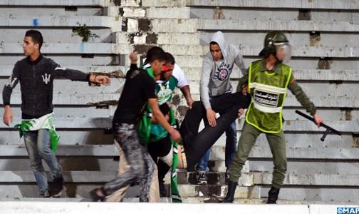 إصابة 10 أشخاص بجروح من بینھم 4 من أفراد القوات العمومية في شغب الكرة
