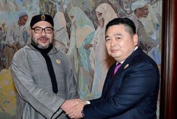 """الملك يستقبل بطنجة رئيس المجموعة الصناعية الصينية """"هيتي"""""""