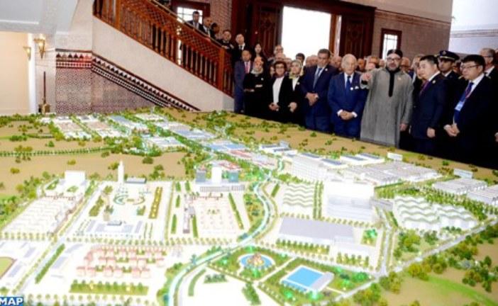"""الملك يترأس حفل تقديم مشروع إحداث """"مدينة محمد السادس طنجة- تيك"""" الجديدة"""