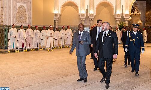 الملك يستقبل بالقصر الملكي بالدار البيضاء رئيس جمهورية غينيا