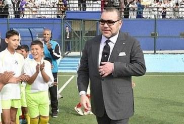 الملك يدشن ملعبا رياضيا للقرب بعمالة مقاطعات عين السبع- الحي المحمدي بالبيضاء