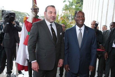 الملك والرئيس الإيفواري يشرفان على انطلاق أشغال بناء مسجد محمد السادس