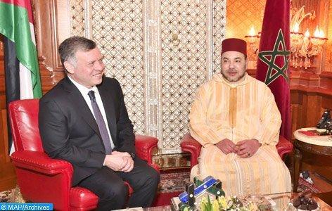 لقاء بالديوان الملكي بالرباط بين الملك وعاهل المملكة الأردنية الهاشمية