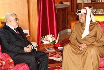 الشيخ تميم بن حمد آل ثاني يستقبل عبد الإله بنكيران