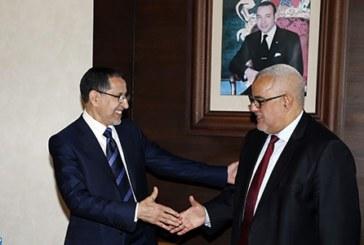 تسليم السلط بين عبد الإله بن كيران ورئيس الحكومة الجديد سعد الدين العثماني
