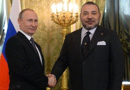 """بوتين للملك محمد السادس: """"سنواصل تطوير جميع الروابط الثنائية المفيدة للطرفين"""""""