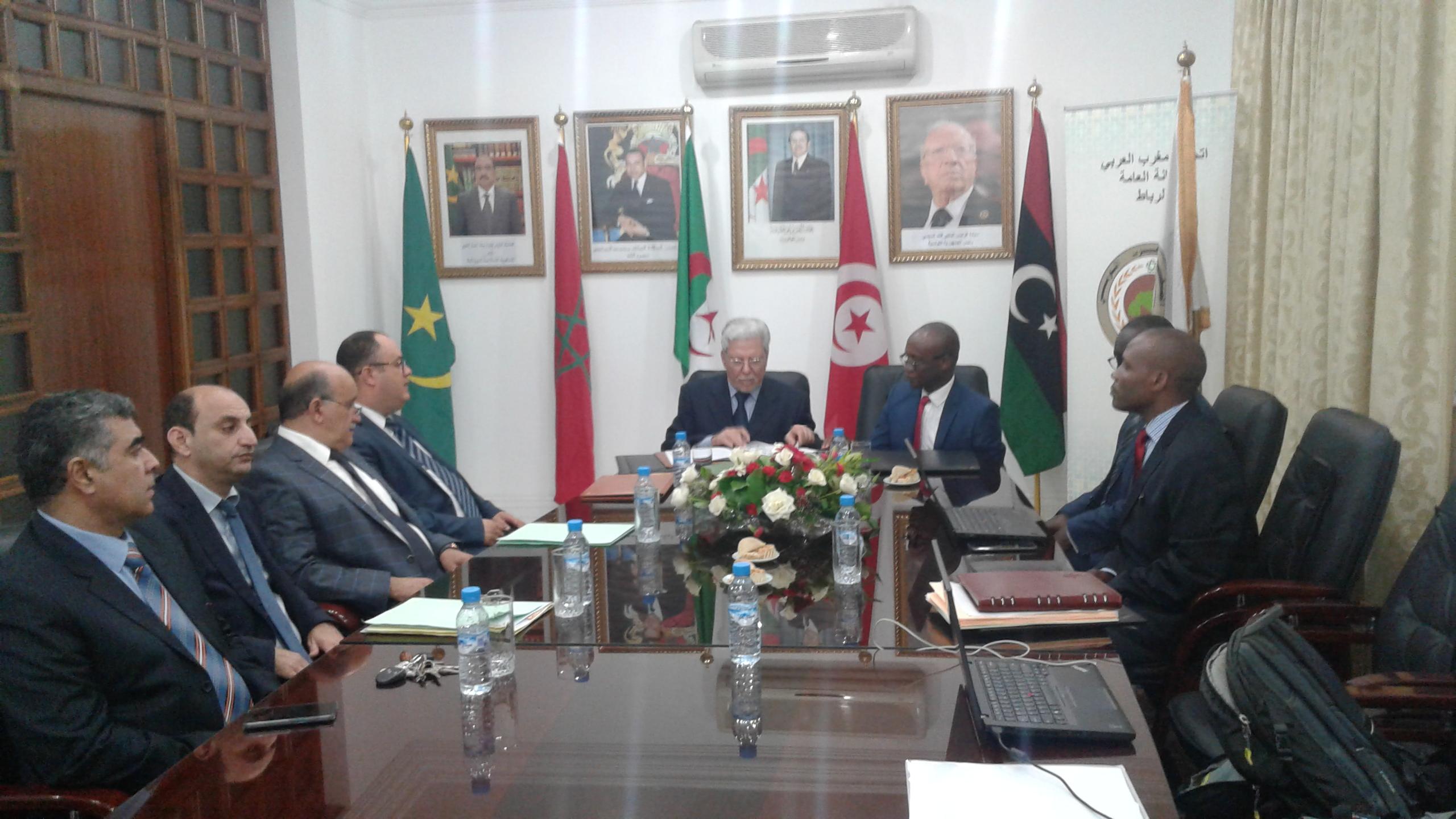 """التوقيع على اتفاق مالي بين الأمانة العامة لاتحاد المغرب العربي ووكالة """"نيباد"""""""