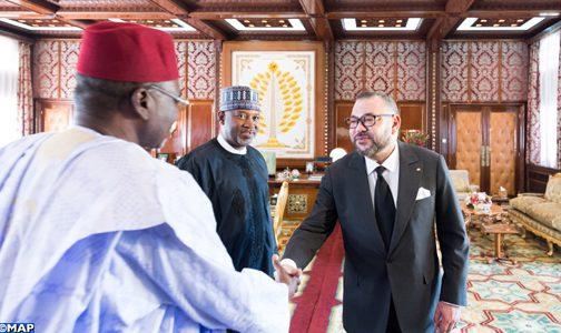 الملك يستقبل وزير الدولة في النقل بجمهورية نيجيريا