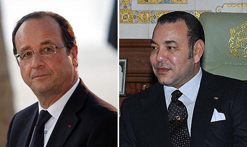 """الملك والرئيس الفرنسي يقومان بزيارة معرض """"كنوز الاسلام بإفريقيا بباريس"""