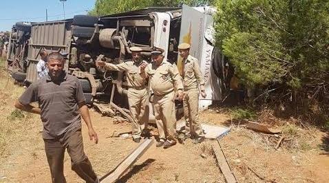 14 قتيلا في حادثة انقلاب حافلة قرب ايت إسحاق
