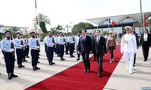 الرئيس ماكرون يغادر المغرب بعد زيارة رسمية بدعوة من الملك