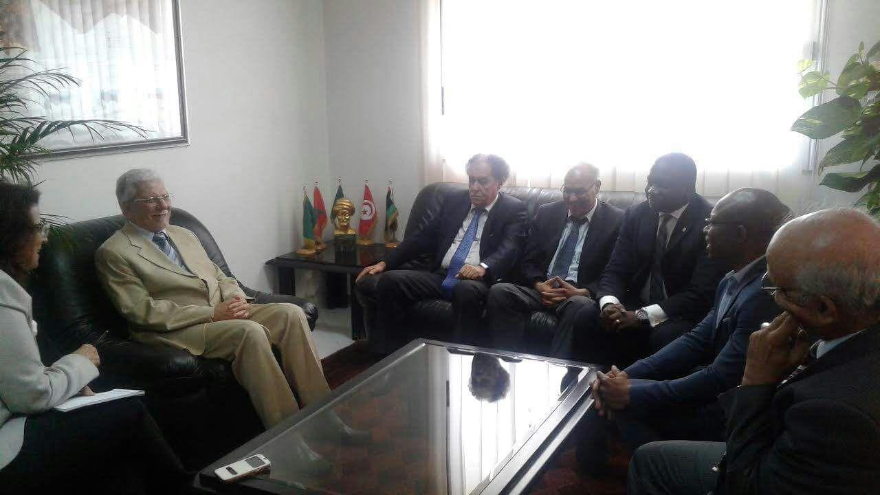 وفد عن مفوضية الاتحاد الإفريقي في زيارة عمل إلى الأمانة العامة لاتحاد المغرب العربي