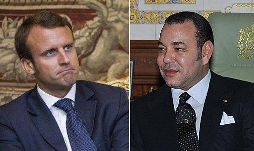 الملك يجري مباحثات مع الرئيس الفرنسي إيمانويل ماكرون