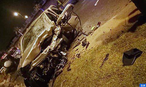وفاة 3 أشخاص في حادثة سير على الطريق الساحلية الرباط – الهرهورة