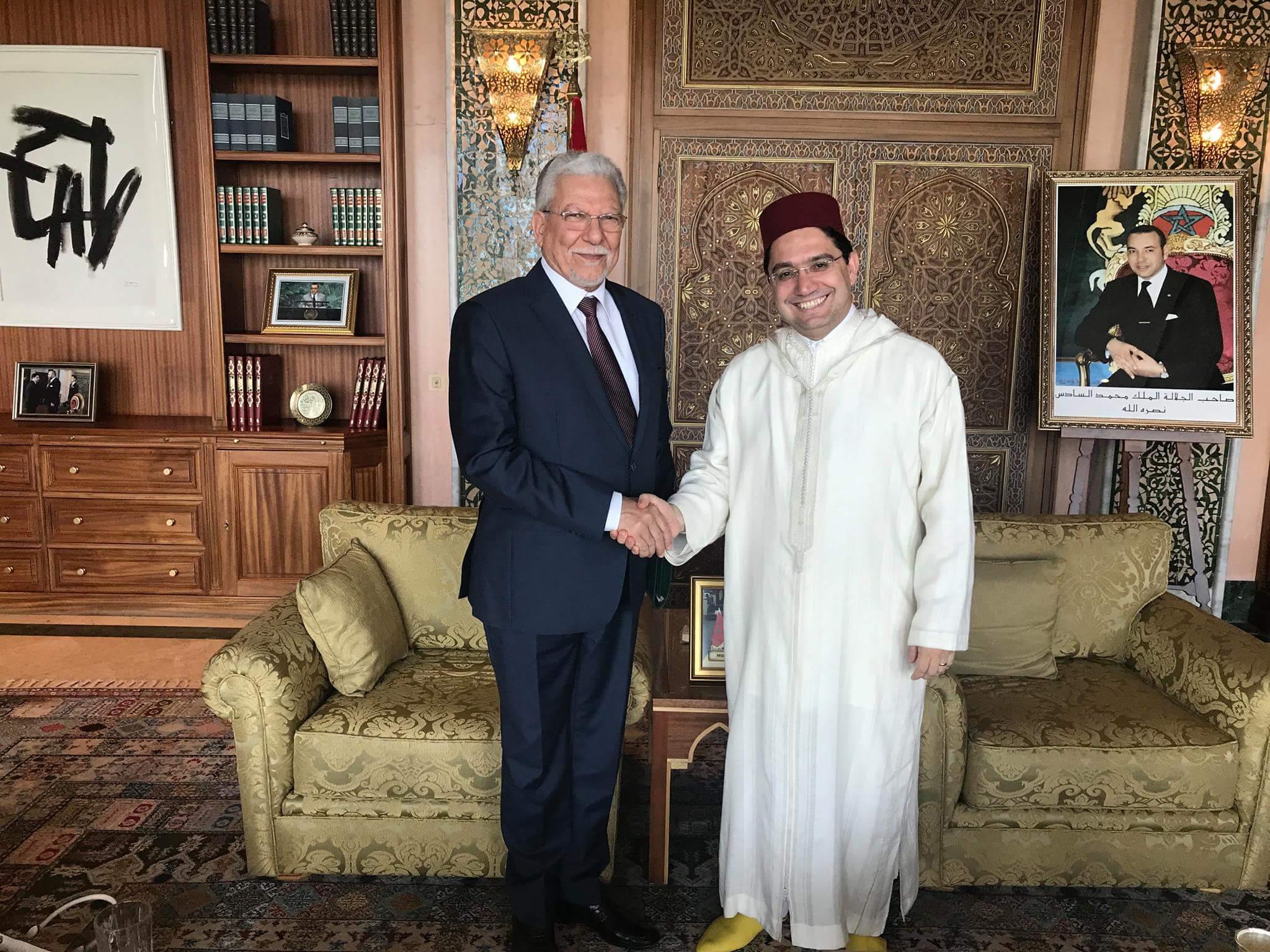 ناصر بوريطة يجري مباحثات مع الأمين العام لاتحاد المغرب العربي