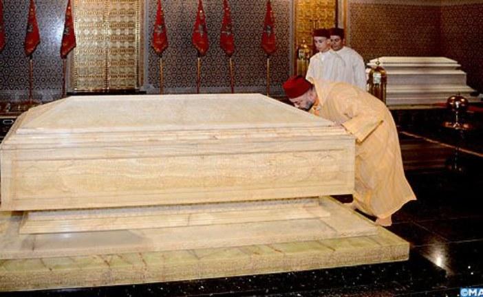 الملك يترحم على روح المغفور له محمد الخامس