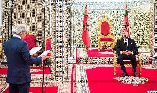 الملك محمد السادس يستقبل والي بنك المغرب
