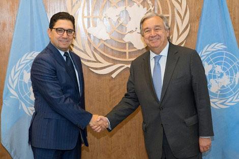 مباحثات هامة بين ناصر بوريطة والأمين العام للأمم المتحدة