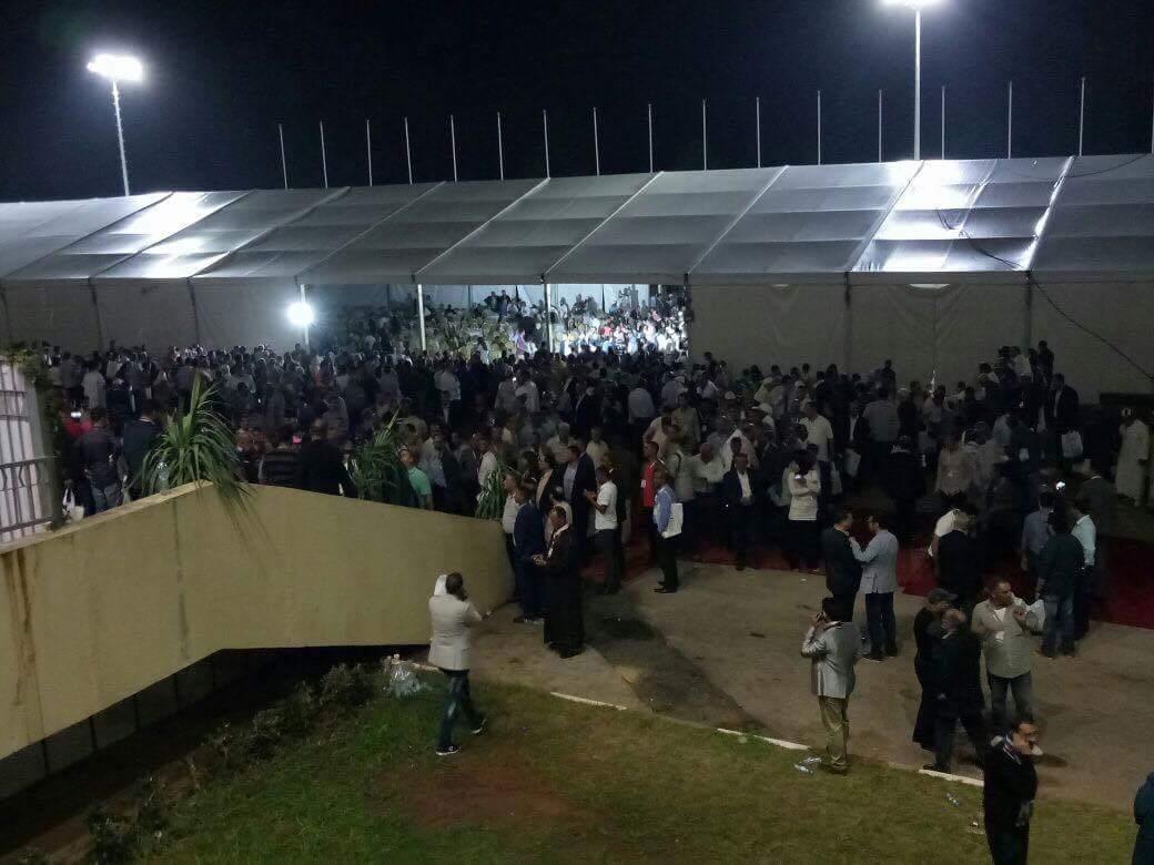 تبادل الرشق بالصحون والكراسي بين أنصار شباط والبركة ليلة المؤتمر 17